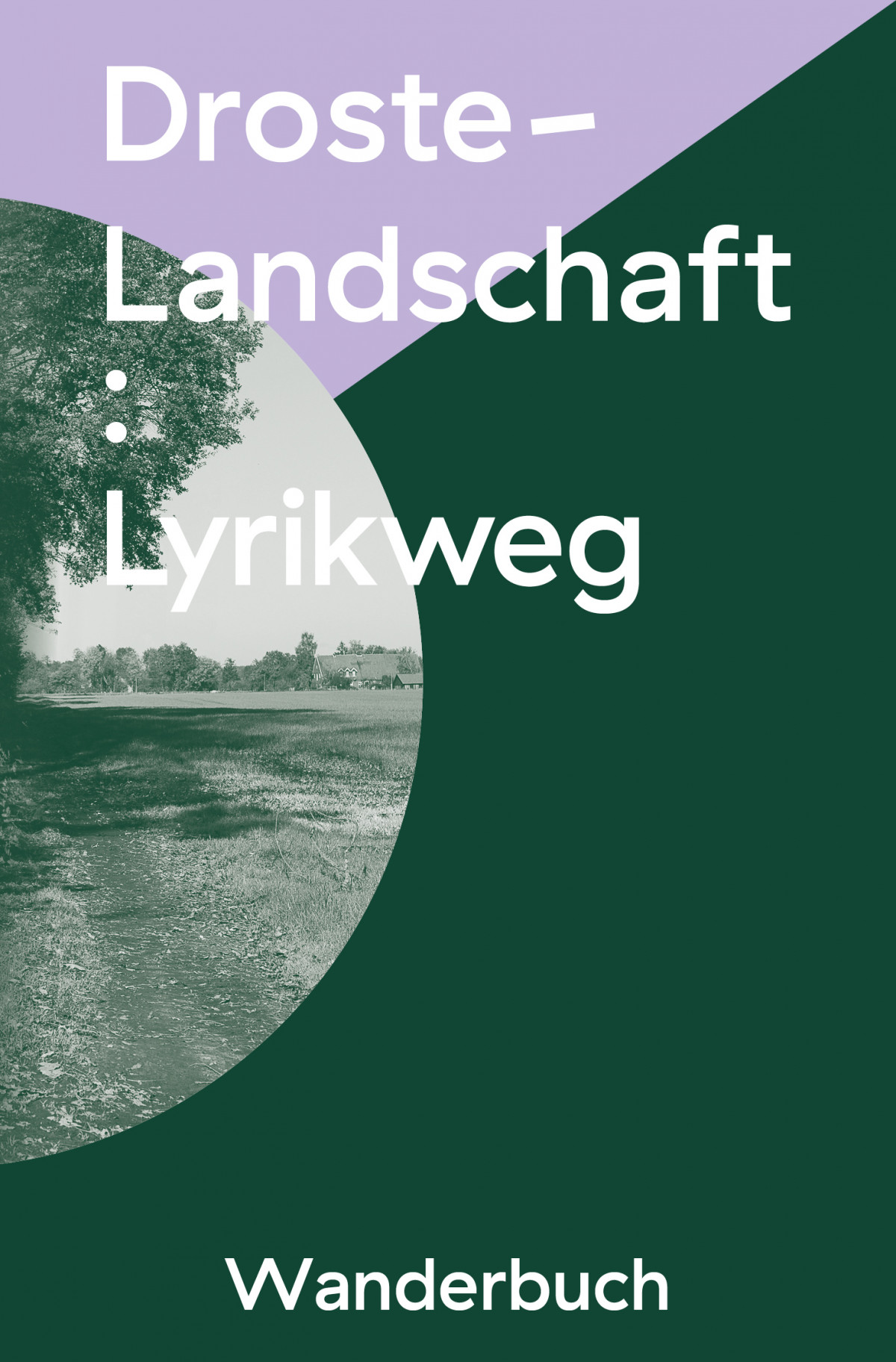 Cover of the hiking book for *Droste-Landschaft : Lyrikweg*